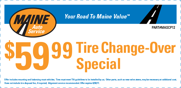 $59.95 tire change-over special (MASCP12)
