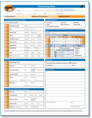 courtesy check form