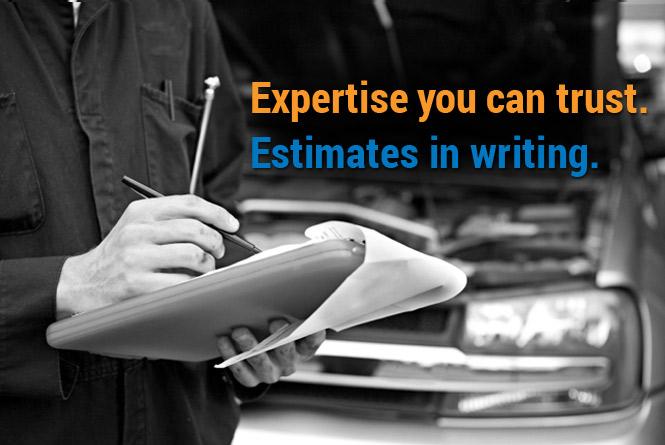 Estimates in writing